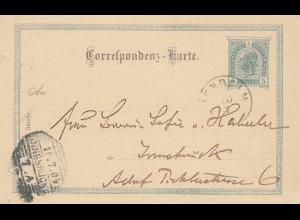 Liechtenstein: 1904: Ganzsache