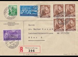 1937: Triesenberg Einschreiben nach Wien