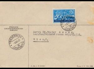 Liechtenstein: 1937: Triesenberg Brief nach Wien