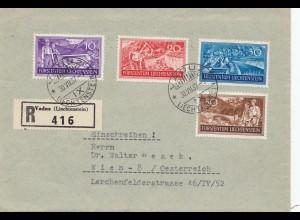 Liechtenstein: 1937: Einschreiben Vaduz nach Wien