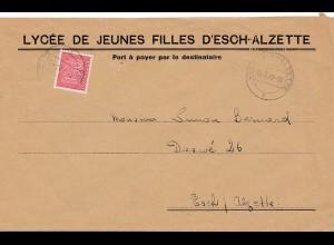 Luxemburg: 1947: Esch-Alzette nach Esch