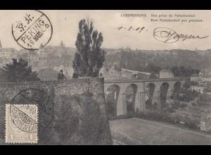 Luxemburg: 1909: Ansichtskarte nach Peking