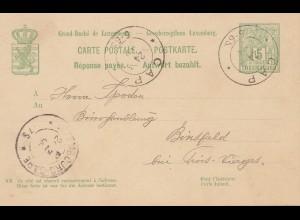 Luxemburg: 1899: Ganzsache-Antwort von Cap