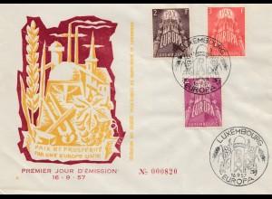 Luxemburg: 1957: Sonderstempel Europa - FDC