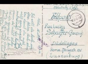 Luxemburg: 1943: Feldpost von Oldenburg nach Düdelingen - Lied-Text