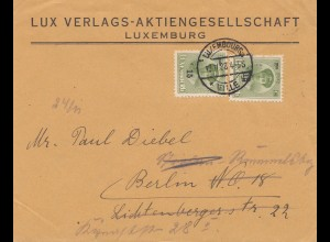 Luxemburg: 1928: Brief nach Berlin