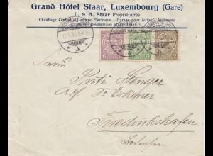 Luxemburg: 1913: Brief nach Friedrichshafen