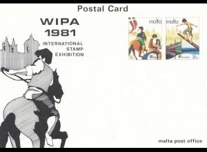 Malta: 1981: WIPA - Stamp Exhibition