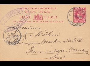 Malta: 1900 Ganzsache nach Kammerberg