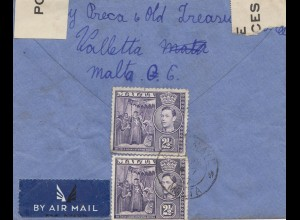 Malta: Brief als Air Mail nach England