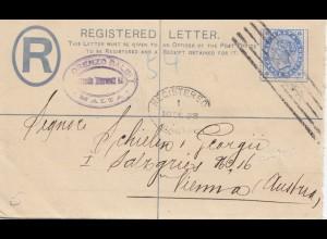 Malta: 1898: Einschreiben nach Wien