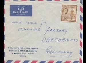 Malta: Brief nach Dresden