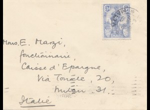 Malta: 1925 Brief nach Italien