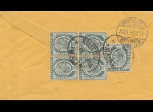 Malta: 1906: Brief nach Dresden