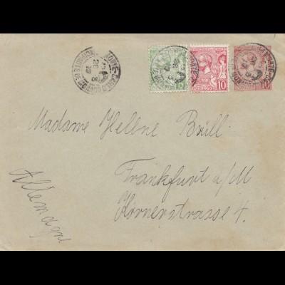 Monaco: 1912 Brief nach Frankfurt