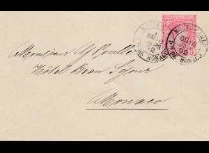 Monaco: 1892: Inlandsbrief
