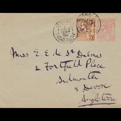 Monaco: 1898: Brief nach England
