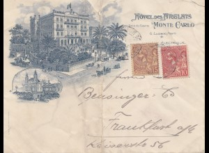 Monaco: 1907: Brief nach Frankfurt