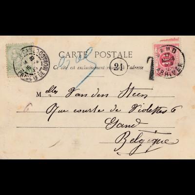 Monaco: 1903: Ansichtskarte nach Belgien