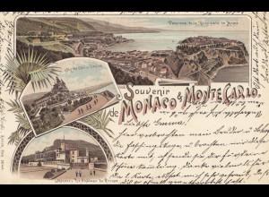 Monaco: 1898: Ansichtskarte nach Wien