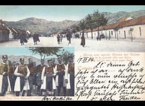Montenegro: 1904: Ansichtskarte nach Dornum