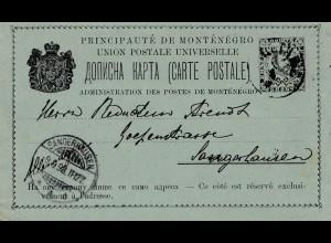 Montenegro: 1898: Ganzsache nach Sängerhausen