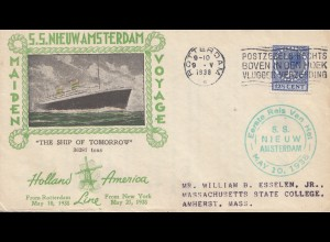 Niederlande: 1938: Rotterdam Holland-Amerika Line Ship of tomorrow