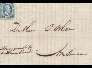 Niederlande: 1854: Brief nach Amsterdam