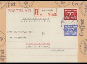 Niederlande: 1942: Rotterdam nach Winsen; OKW Zensur
