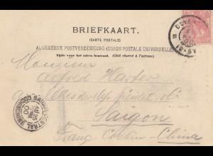 Niederlande: 1900 Ansichtskarte nach Saigon