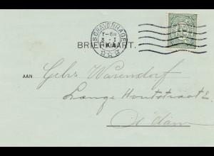 Niederlande: 1916: S'Gravenhage nach Rotterdam, Perfin
