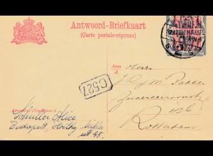 Niederlande: 1927: Ganzsache - Antwort nach Rotterdam