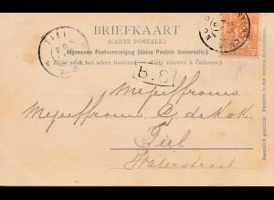 Niederlande: 1901: Ansichtskarte Amsterdam - Perfin