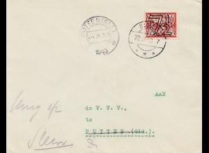 Niederlande: 1940: Putten Ortsbrief - nicht zustellbar