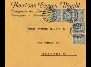 Niederlande: 1915: Utrecht nach Dresden - Zensur
