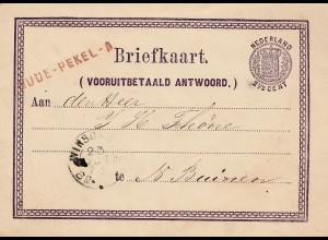 Niederlande: 1873: Ganzsache - Briefkaart