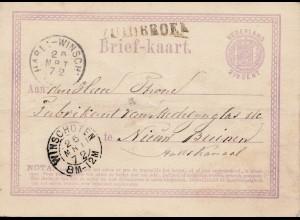 Niederlande: 1872: Winschoten Ganzsache