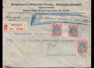 Niederlande: 1922: Einschreiben-Wertbrief Amsterdam nach Haaksbergen