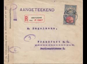 Niederlande: 1922: Eiinschreiben Amsterdam nach Frankfurt: Geöffnet