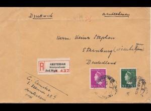 Niederlande: 1940: Einschreiben Amsterdam nach Steinburg-OKW Zensur