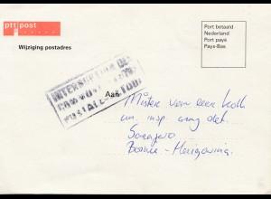 Niederlande: 1992: Wijziging postadres