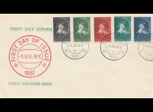 Niederlande: 1937: FDC Child Welfare Issue