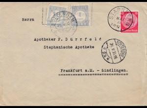 Niederlande: 1935: Starnberg nach Rotterdam TAXE