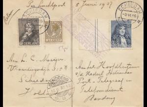 Niederlande: 1937: Schiedam nach Bandoeng - Indien NL