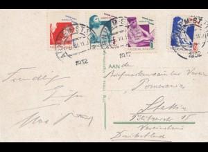Niederlande: 1932 Ansichtskarte Amsterdam nach Stettin