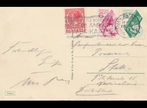 Niederlande: 1931 Ansichtskarte Amsterdam nach Stettin