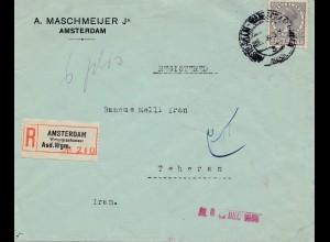 Niederlande: Dezember 1935: Einschreiben Amsterdam nach Teheran