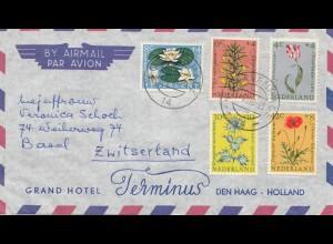 Niederlande: 1960 Luftpost nach Basel