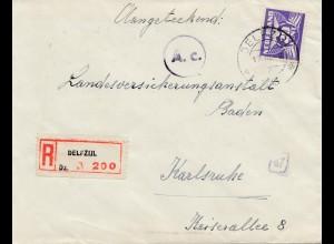 Niederlande: 1943: Einschreiben Delfzul nacah Karlsruhe - OKW Zensur