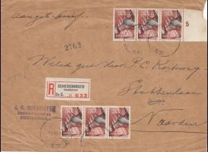 Niederlande: 1937: Einschreiben Scheveningen